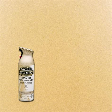 rust oleum universal 11 oz all surface metallic satin rubbed bronze spray paint and primer