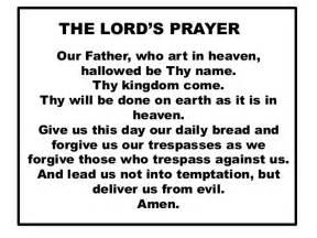 t he lord s prayer