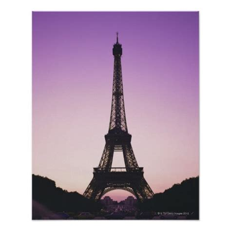 Eiffel Tower Poster eiffel tower at sunset posters zazzle