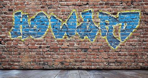 graffiti templates for photoshop create a colorful graffiti on a grungy brick wall in photoshop