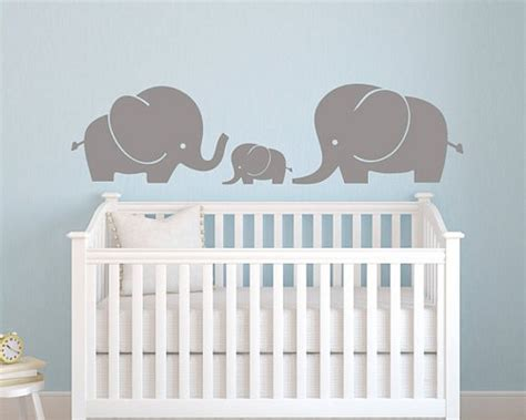 Elephant Decor For Nursery Vinyl Wall Decal Elephant Family Wall Decal Elephant Wall Decal Nursery Wall Decal Baby