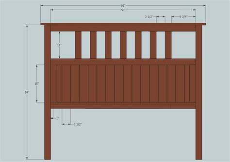size headboard plans size slatted headboard