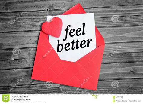 feel better feel better word stock photo image of increase feel