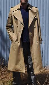 Trench coat beige tan coat mens trenchcoat overcoat medium