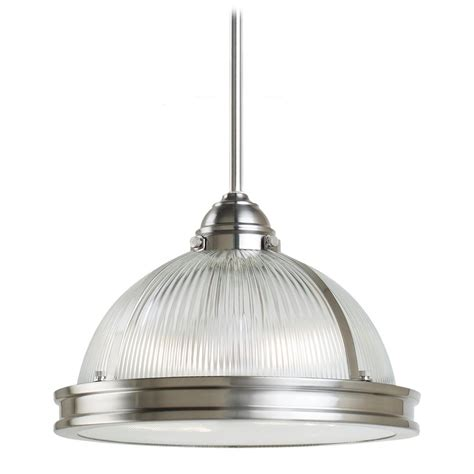 Brushed Nickel Pendant Lighting Pendant Light With Clear Glass In Brushed Nickel Finish 65061 962 Destination Lighting