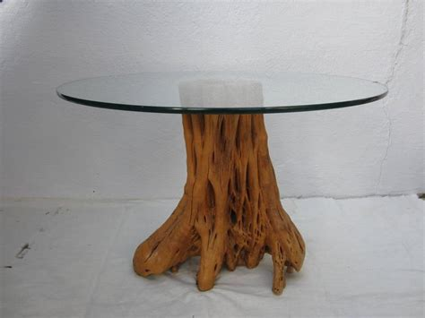 tree trunk l base tree trunk table base with glass top for sale at 1stdibs