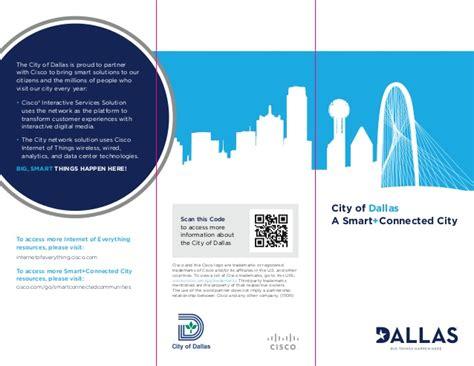 smart dallas dallas smart city brochure