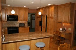 granite colors for oak cabinets kitchen