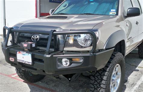 arb deluxe winch bull bar for 2005 2011 tacoma with fog