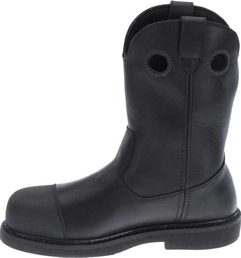 black motorcycle boots for harley davidson s manton waterproof black motorcycle