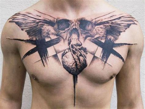 stretched out tattoos chest tattoos for s ideas