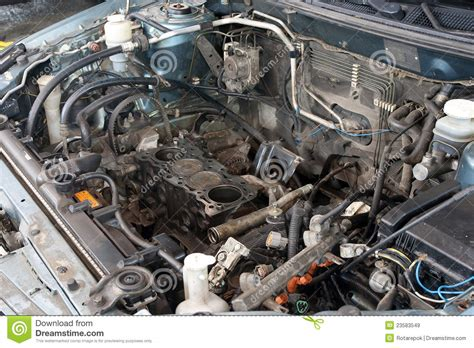 automotive motor broken car engine stock image image of broken gasoline 23583549