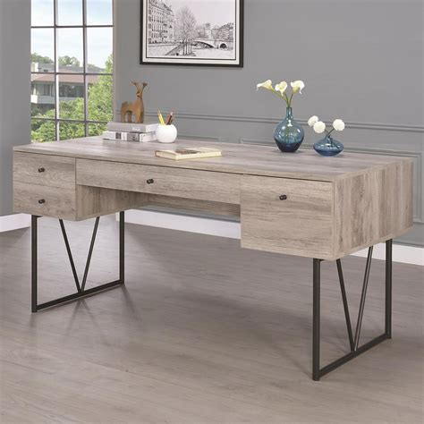 coaster 801999 desk with four drawers sol furniture