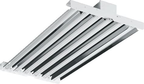 T5 6 L High Bay Fixture by H E Williams Hl 6 L T5 Channel High Bay Industrial
