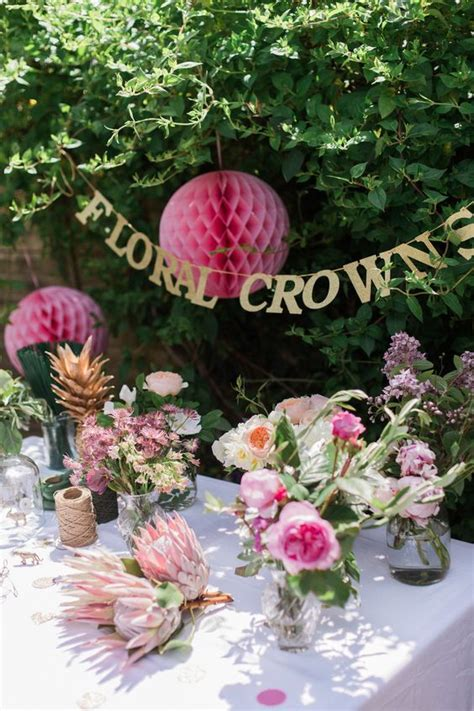 bridal shower table decorations flowers 40 best bridal shower ideas themes food and