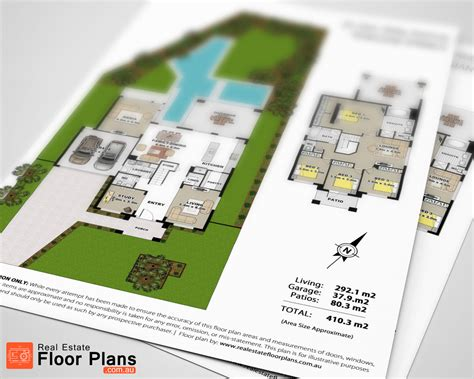 floor plans for real estate large two story floor plan for real estate sunshine coast