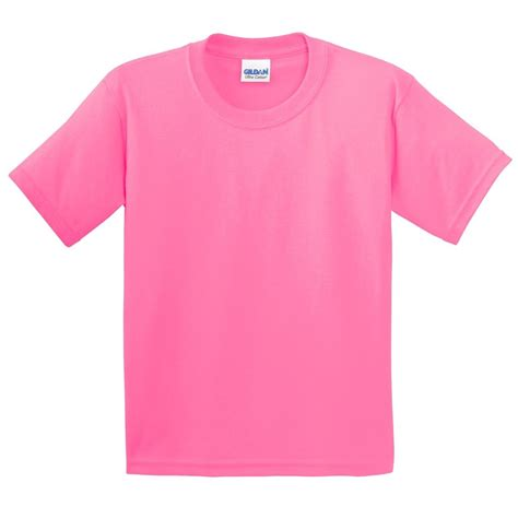 safety pink color gildan 2000b youth ultra cotton t shirt safety pink
