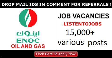 Mba And Gas Salary by And Gas Vacancies In Enoc 2018 Listentojobs