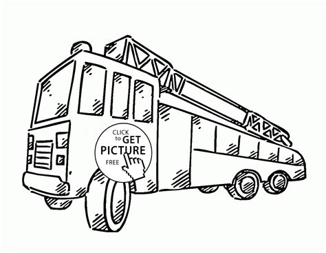 simple fire truck coloring page simple fire truck coloring pages coloring pages