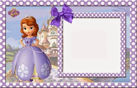 Sofia The First Free Printable Invitations Cards Or Photo Frames Ornaments In 2019 Sofia The Birthday Card Template