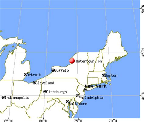 watertown, new york (ny 13601) profile: population, maps