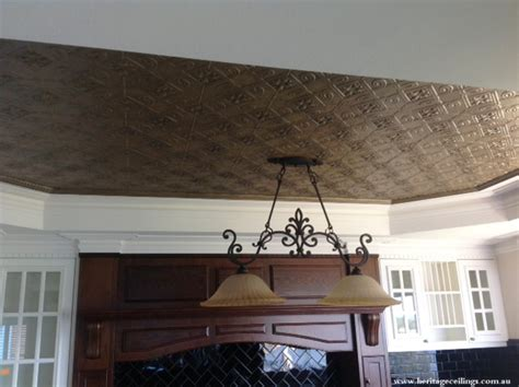 painted pressed tin ceiling using porters paints