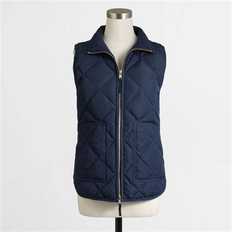 Vest Blue j crew factory quilted puffer vest in blue lyst