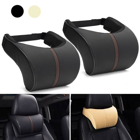 pillow car leather memory foam car cushion pillow headrest alexnld