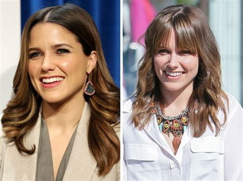 how to get a look with bangs without cutting your hair celebs with and without bangs which look do you prefer