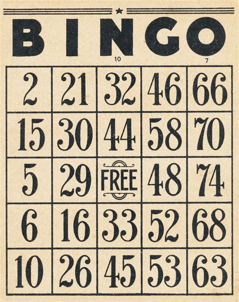 free printable vintage numbers collage candy vintage bingo cards and 10 cent tickets