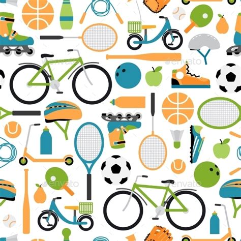 sport pattern background free vector healthy sport pattern background by neyro2008