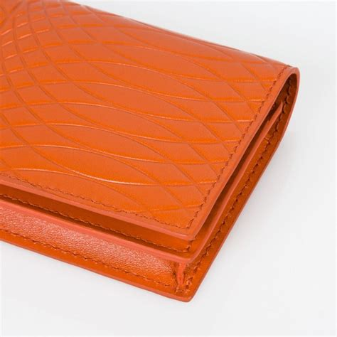 Burnt Orange Leather by Paul Smith No 9 Burnt Orange Leather Credit Card Wallet In