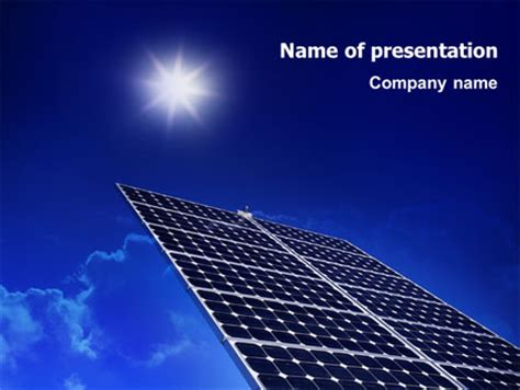 solar panels rising up power brochure template design and