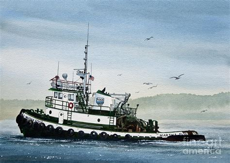 tugboat painting foss tugboat martha foss painting by james williamson