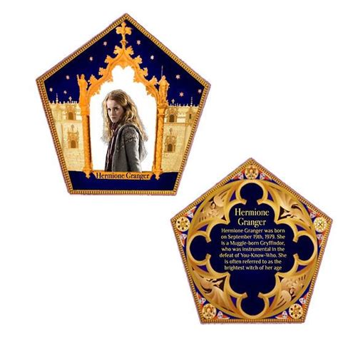 Card Template Hermine by Chocolate Frog Cards Hermione Granger My