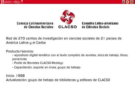 revista del centro de investigacin redalycorg visibilidad y acceso a revistas de am 233 rica latina