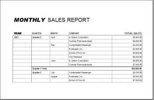 Sales Report Samples Monthly Sales Report Samples Vlashed