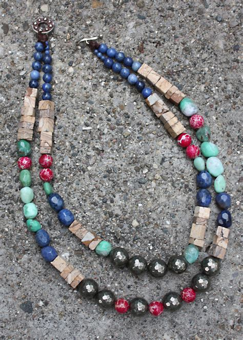 lima bead elements necklace customer design lima