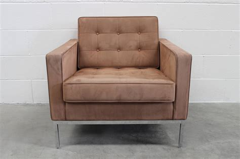 ultrasuede couch knoll studio quot florence knoll quot two sofa and armchair suite