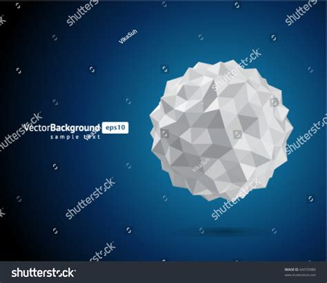 Paper Sphere Origami - abstract 3d origami paper sphere vector stock vector