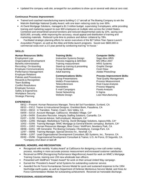 Resume For It Application Manager Executive Hr Manager Resume Exle Template Page 2