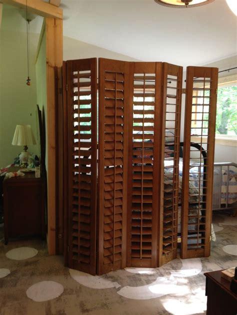 plantation shutter room divider reusing shutters ecogreenlove