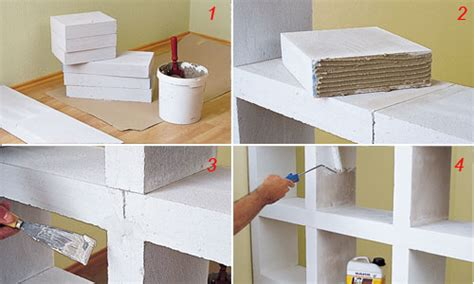 costruire uno scaffale costruire uno scaffale di cemento cellulare bricoportale
