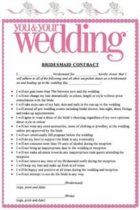 bridesmaid contracts wedding planning discussion forums