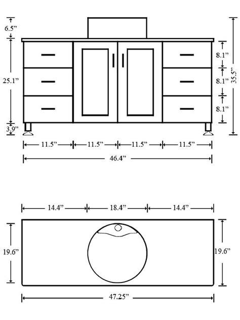 bathroom counter dimensions 47 25 quot grand lune single bathroom vanity white bathgems com