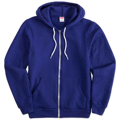 design jaket hoddie custom american apparel usa made flex fleece zip hoodie