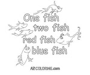 fish fish red fish blue fish coloring pages coloring
