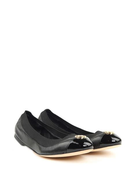burch flat shoes price burch burch leather ballet flats black