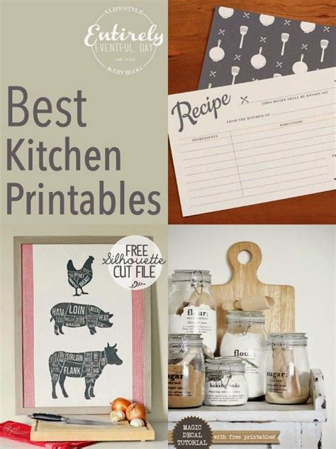 free printable kitchens and kitchen organization on pinterest best free printables for your kitchen so cute in print