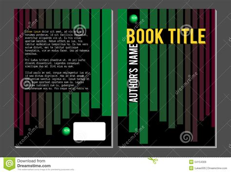 book cover template illustrator book cover template green and lines stock vector